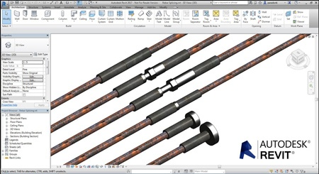 Dextra rebar couplers now available for Revit 2017
